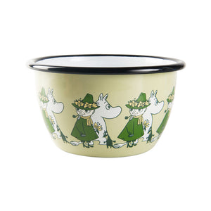 The Moomins Moomintroll & Snufkin 600ml Enamel Bowl