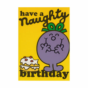 "Little Miss ""Have a Naughty Birthday"" Greeting Card"