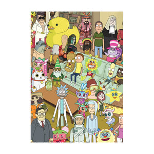 Rick & Morty Characters Greeting Card
