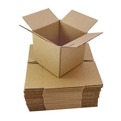 Pack of 30 6x6x6 inch Single Wall Cardboard Boxes (Multiscore)