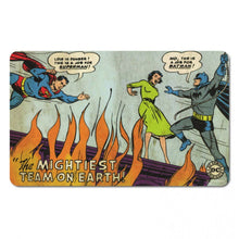 "Load image into Gallery viewer, Superman & Batman ""The Mightiest Team"" Breakfast Cutting Board"
