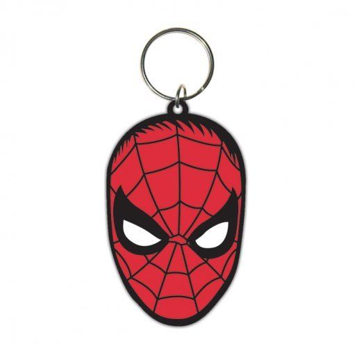 Spiderman (Face) Rubber Keyring