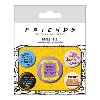 Friends Quotes Pack of 5 Badges