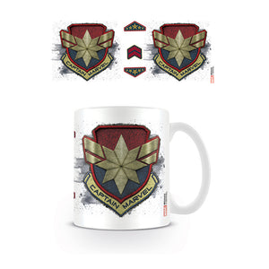 Captain Marvel Patch Logo Mug