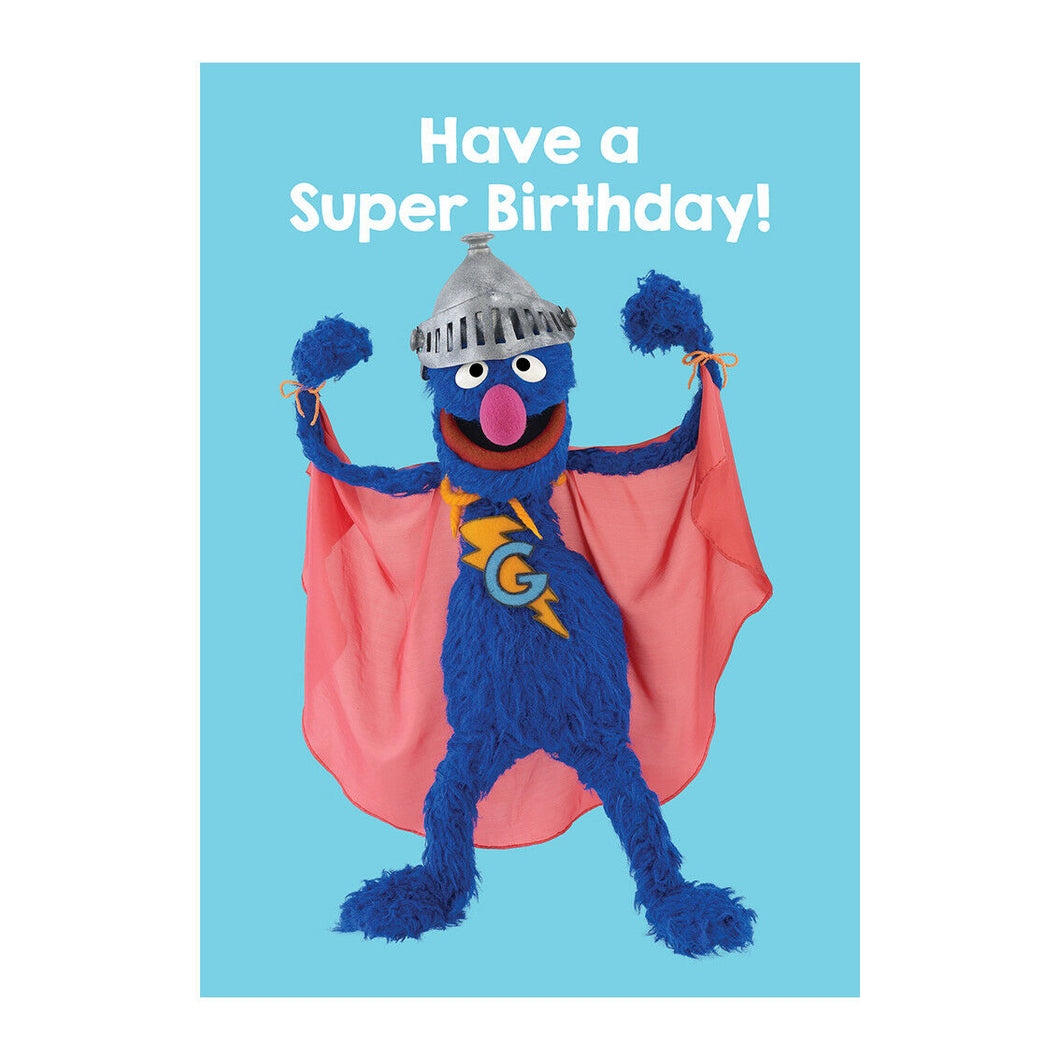 Sesame Street Grover Have A Super Birthday Greeting Card