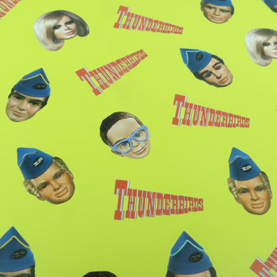 3 Sheets Of Thunderbirds Faces Gift Wrap