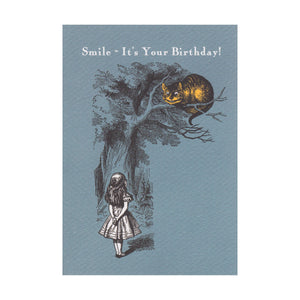 "Alice in Wonderland Cheshire Cat ""Smile - It's Your Birthday!"" Greeting Card"