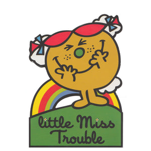 Little Miss Trouble Greeting Card