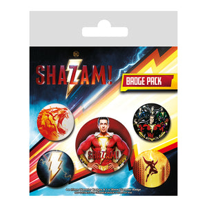 Shazam Pack of 5 Badges