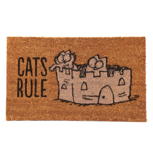 "Simon's Cat ""Cats Rule"" Door Mat"