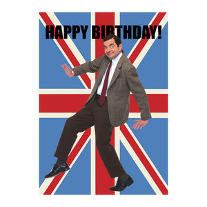 Mr Bean Happy Birthday Greeting Card