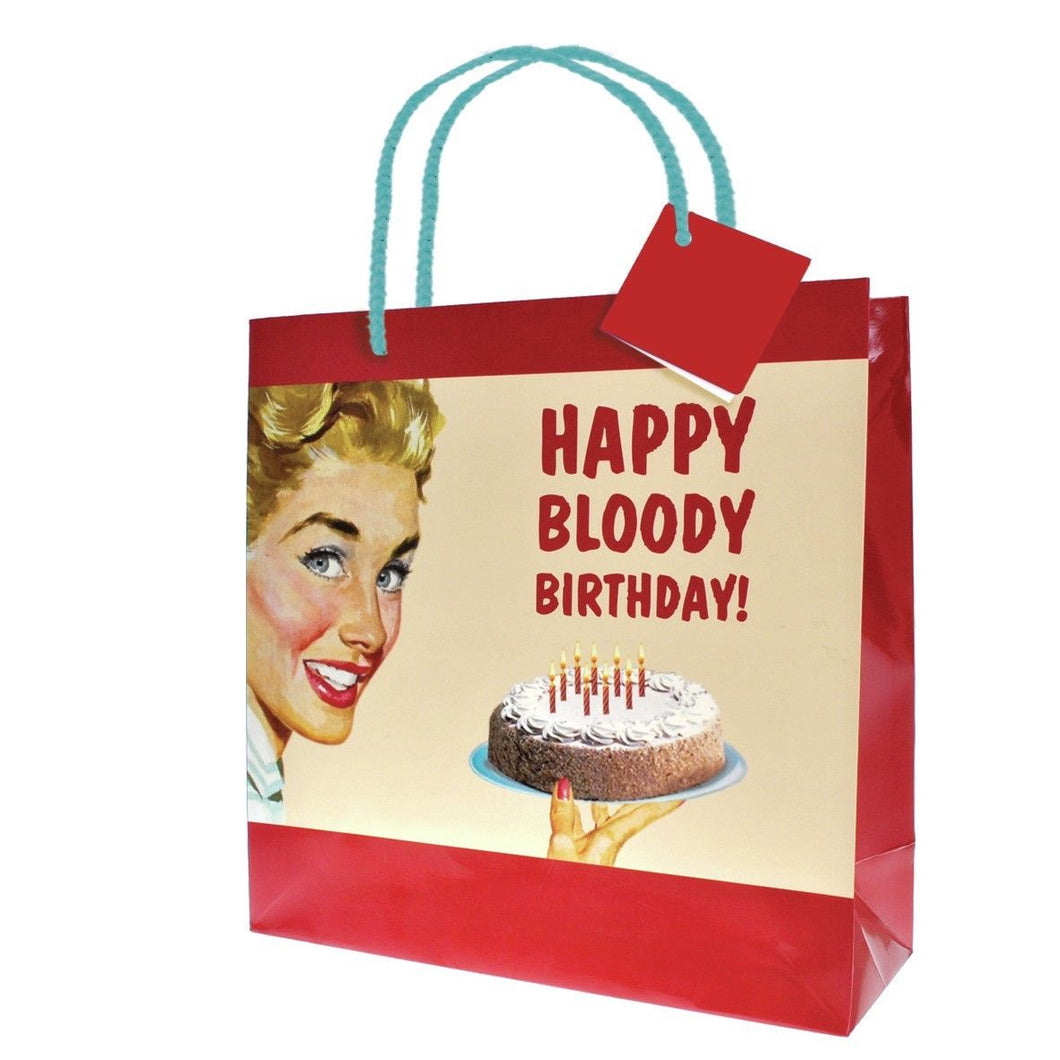 Happy Bloody Birthday Large Gift Bag