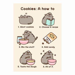 "Pusheen ""Cookies: A How To"" Greeting Card"