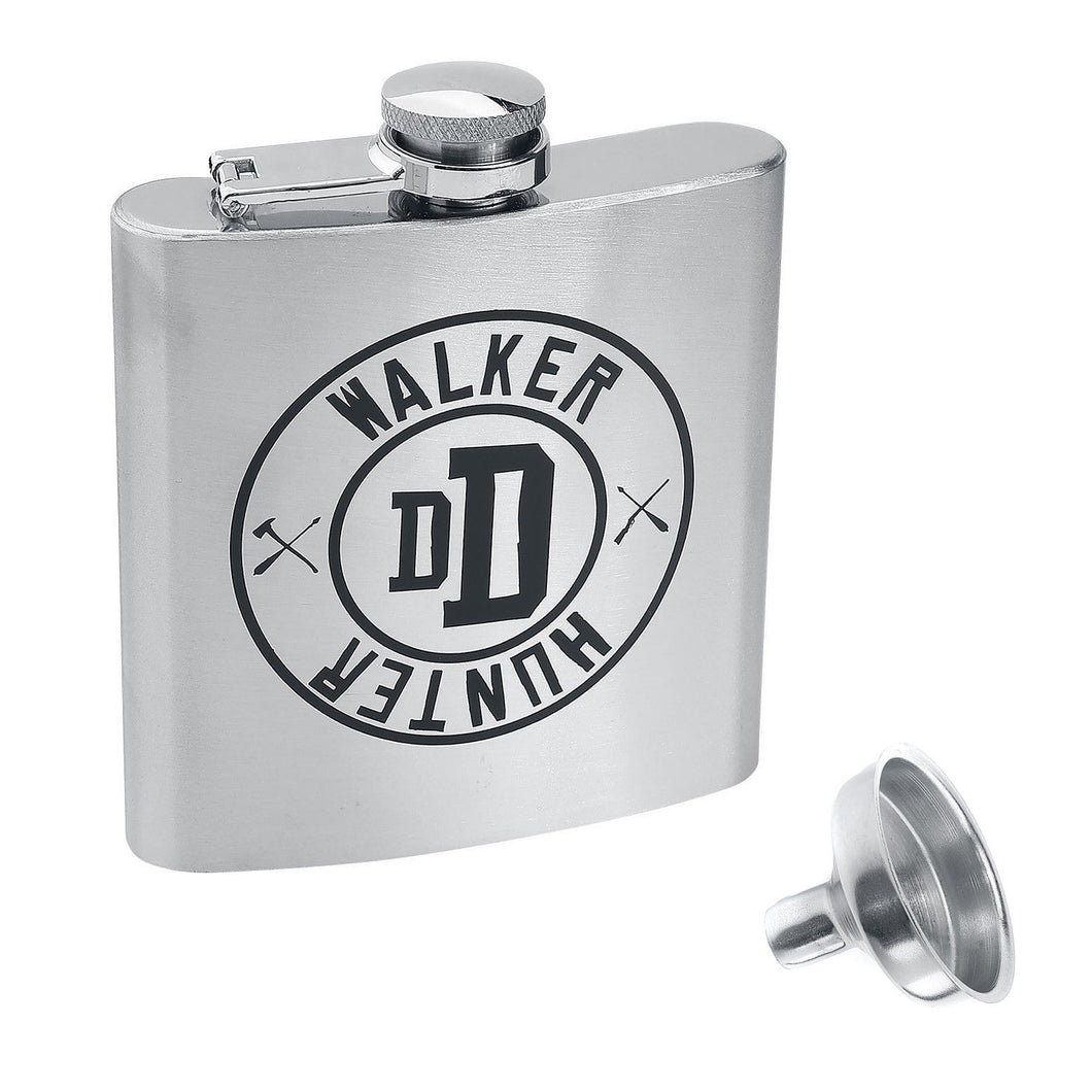 The Walking Dead Walker Hunter Hip Flask With Funnel