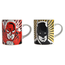 Load image into Gallery viewer, Batman & The Flash Set of 2 Heat Change Espresso Cups