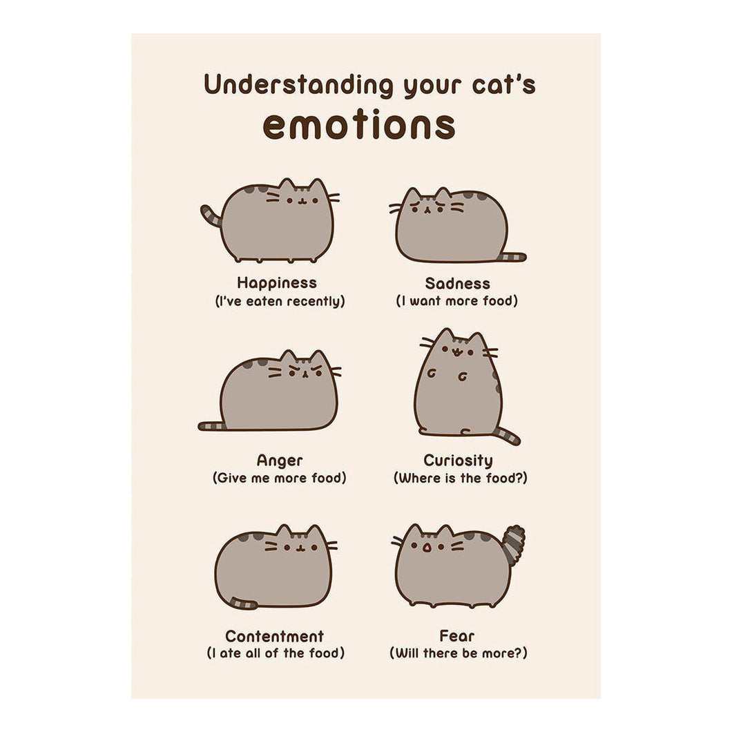 Pusheen Understanding Your Cat's Emotions Greeting Card