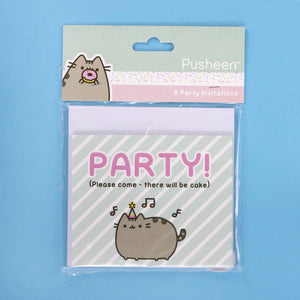Pack of 8 Pusheen Party Invitation Cards & Envelopes