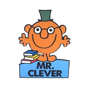 Mr Clever Shaped Greeting Card