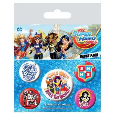 DC Super Hero Girls Badge Set