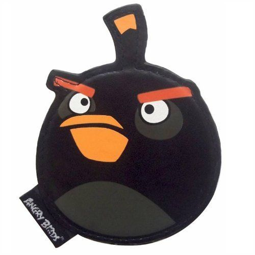 Black Angry Birds Compact Mirror