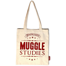Load image into Gallery viewer, Harry Potter Muggle Studies Shopping Bag