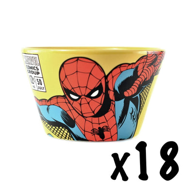 18 x Spider-Man Ceramic Bowls RRP £162