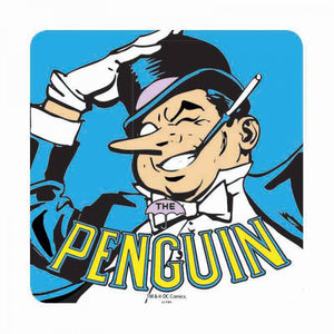 Classic The Penguin & Logo Coaster