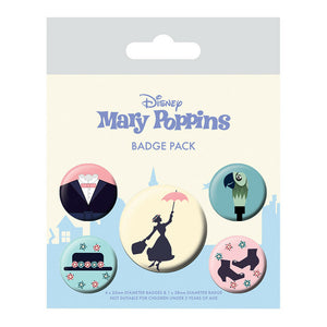 Mary Poppins Badge Set