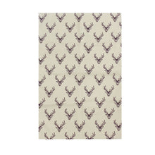 Load image into Gallery viewer, Woodland Trust Stag Repeat Pattern Tea Towel