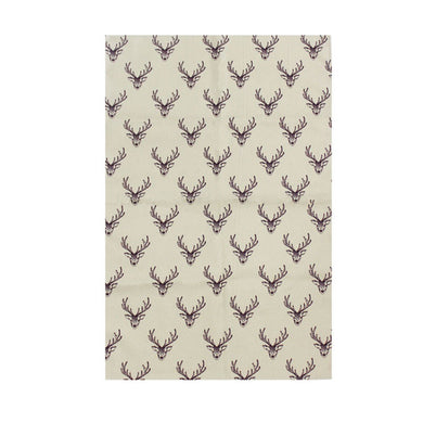 Woodland Trust Stag Repeat Pattern Tea Towel