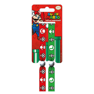 Super Mario Bros. Pack of 2 Festival Wrist Bands