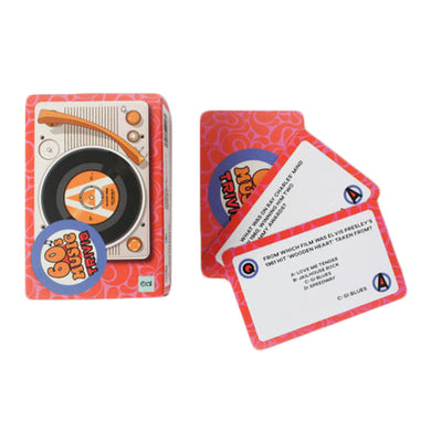 1960s Music Trivia Cards