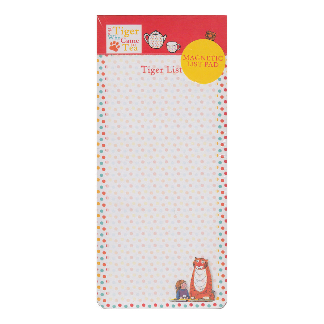 The Tiger Who Came To Tea Magnetic Memo Pad