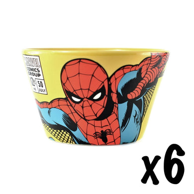 6 x Spider-Man Ceramic Bowls RRP £54