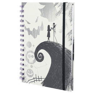 Nightmare Before Christmas Spiral Hill A5 Notebook