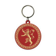 Load image into Gallery viewer, Game of Thrones Lannister Mug Coaster & Keyring Set