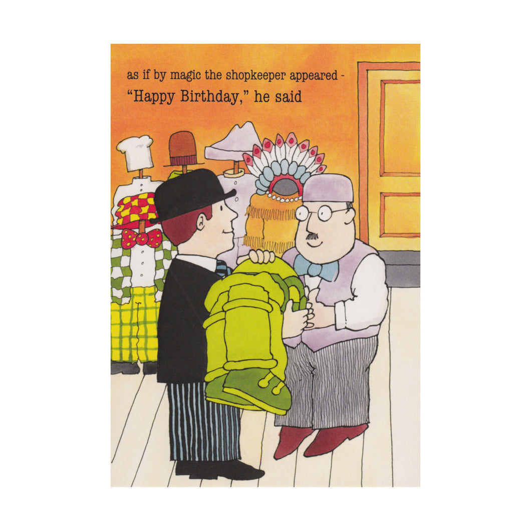 Mr Benn Shopkeeper Greeting Card