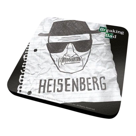 Breaking Bad Heisenberg Face Sketch Coaster