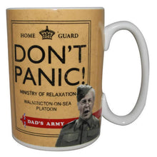 Load image into Gallery viewer, Dad's Army Don't Panic Mug