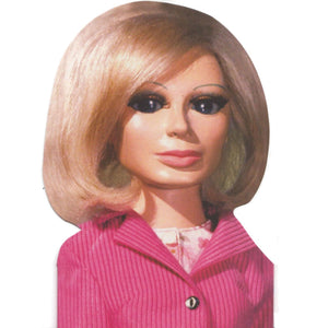 Thunderbirds Lady Penelope Shaped Greeting Card
