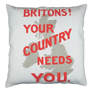 Britons! Your Country Needs You Cushion