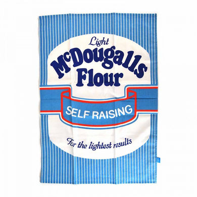 Blue & White Striped McDougall's Tea Towel