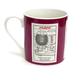Matt Pritchett Alcohol Cartoons Bone China Mug
