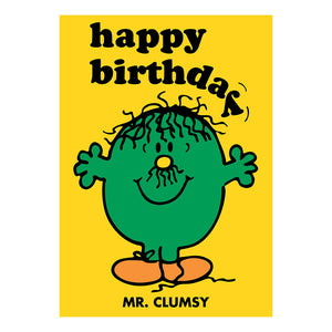 Mr Men Mr Clumsy Greeting Card
