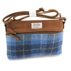 Harris Tweed Pale Blue Castle Bay Tartan Handbag