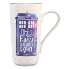 Load image into Gallery viewer, Doctor Who Tardis Latte Mug
