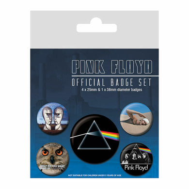 Pink Floyd Badge Set
