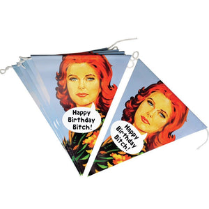 Happy Birthday Bitch 3.5m Paper Bunting