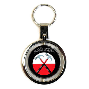 Pink Floyd The Wall Hammers Logo Spinning Metal Keyring