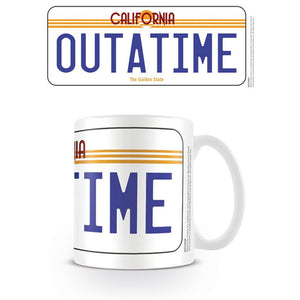 Back To The Future OUTATIME Licence Plate Mug